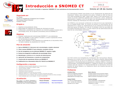 Taller Virtual Introduccion SNOMED CT Junio 2012
