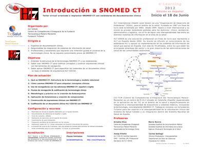 Taller Virtual Introduccion SNOMED CT Junio 2012