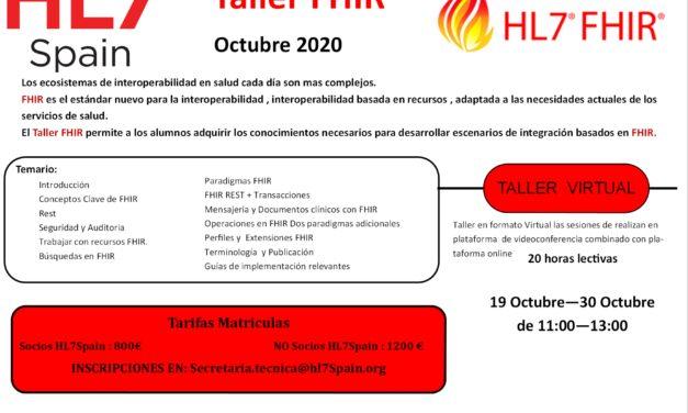 Taller FHIR Octubre 2020