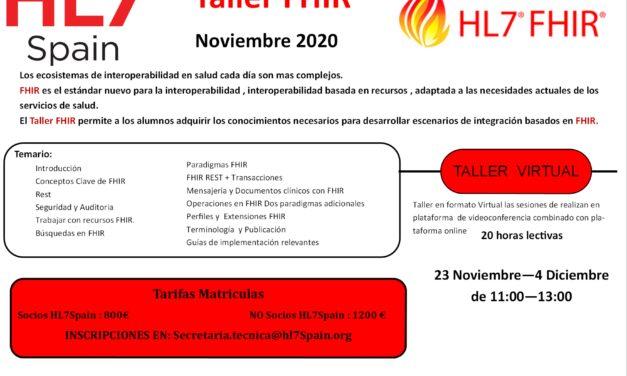Taller FHIR Noviembre 2020