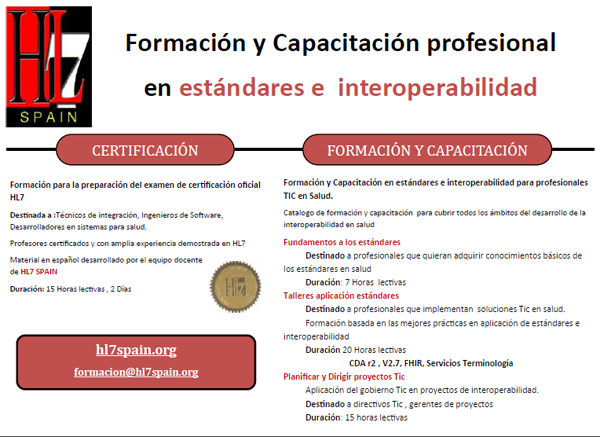 Nuevo de catálogo de servicios de formación