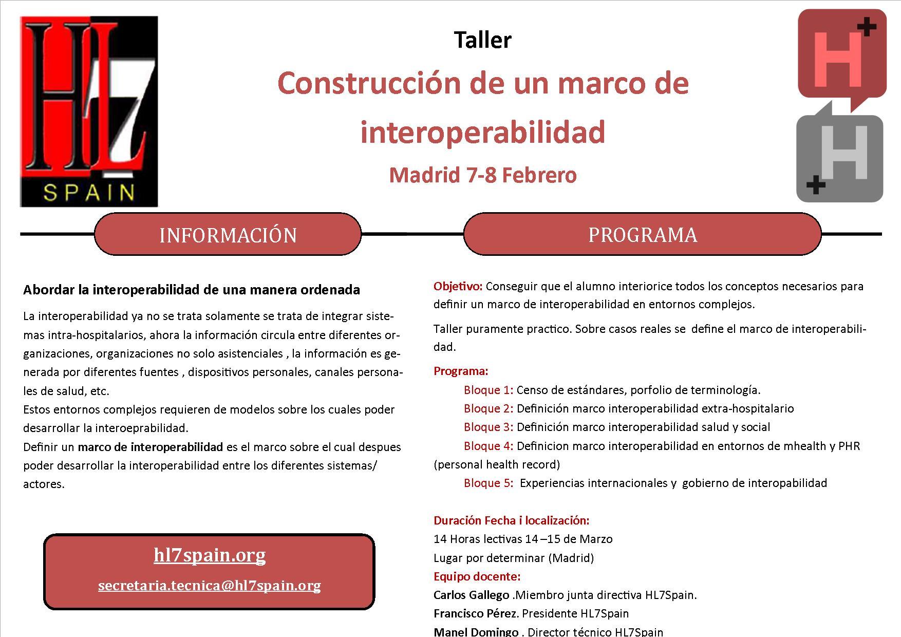 Taller Construcción de un marco de interoperabilidad