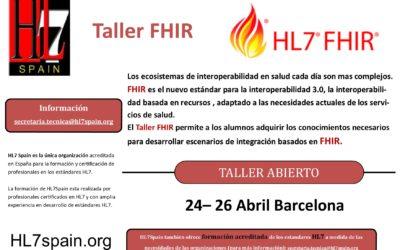 Taller FHIR 24-26 abril BARCELONA